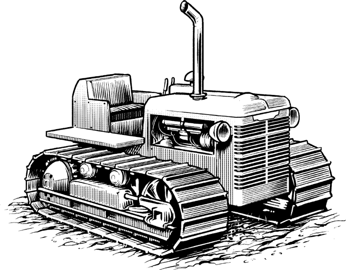 TD-9 Tractor drawing